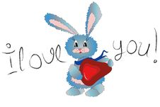 Free Hare With Heart Royalty Free Stock Photo - 14249575