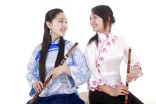 Two Young Performers Royalty Free Stock Photos