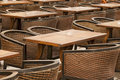 Free Empty Terrace Chairs Stock Photo - 14251350