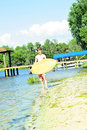 Free Boy With A Wakeboard Stock Photo - 14253050