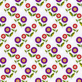Free Seamless Floral Vivid Pattern Royalty Free Stock Photography - 14256477