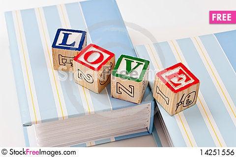 Free Block Love Royalty Free Stock Image - 14251556