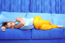 Free Young Woman Sleeping Royalty Free Stock Images - 14250589