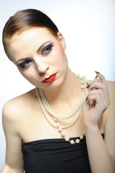 Free Young Elegant Aristocratic Beauty Female Face Stock Images - 14250654