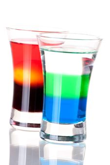 Free Shot Cocktail Collection Royalty Free Stock Images - 14250919