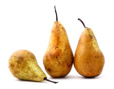 Free Ripe Pears On White Royalty Free Stock Images - 14251039
