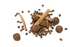 Free Coffee Beans And Truffles Stock Photo - 14251260