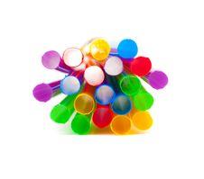 Multi-coloured Drinking Straws Stock Images