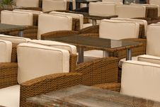 Free Empty Terrace Chairs And Table Royalty Free Stock Image - 14251366