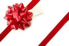 Free Red Bow On White Package Royalty Free Stock Photography - 14251437
