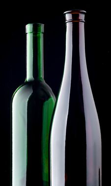 Free Two Glass Bottles Stock Image - 14251551