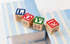 Free Block Love Royalty Free Stock Image - 14251556