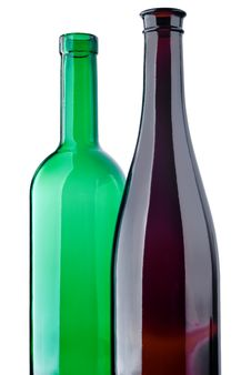 Free Two Glass Bottles Royalty Free Stock Images - 14252069