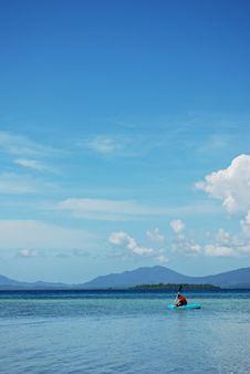 Free Man On A Kayak Stock Image - 14252201