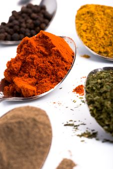 Free Various Ground Spices Royalty Free Stock Image - 14252806