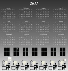 Free 2011 Calendar Stock Photos - 14252983