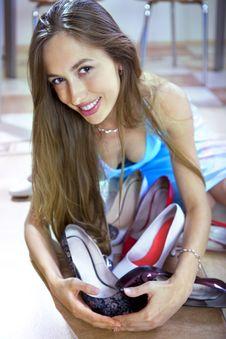 Free Beautiful Shopaholic And Shoes Stock Photography - 14253102
