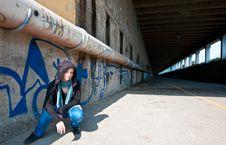 Free Graffiti Girl Stock Photo - 14253600