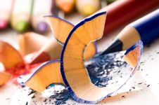Free Sharpened Pencils And Wood Shavings Royalty Free Stock Photo - 14253995