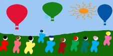 Free Hot Air Ballon Illustration Stock Photos - 14254893
