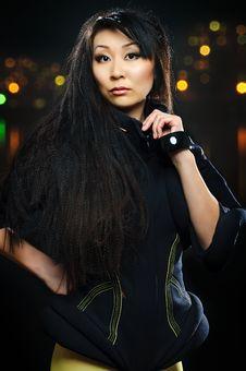 Brunette Asian Model Royalty Free Stock Image