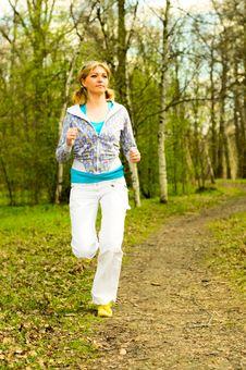 Free Girl Jogging Stock Photo - 14255630