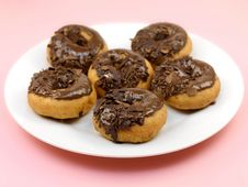 Free Chocolate Donuts Royalty Free Stock Photography - 14255977