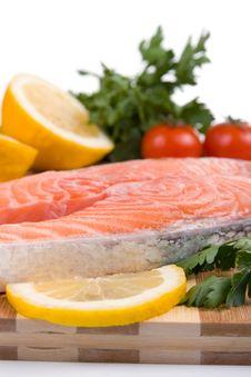Free Raw Salmon Stock Photo - 14256050