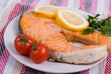 Free Grilled Salmon Stock Photo - 14256090