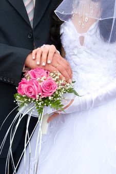 Free Hands Newlyweds Royalty Free Stock Photography - 14256147