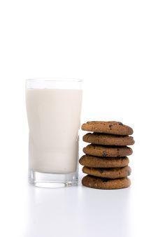 Free Ryazhenka With Oatmeal Cookies Stock Photo - 14256240