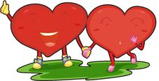 Free Two Little Hearts Stock Photography - 14256432