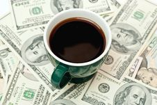 Free Coffee And Money Royalty Free Stock Image - 14256996