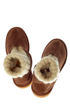 Free Isolated Brown Comfortable Slippers Stock Photos - 14257083