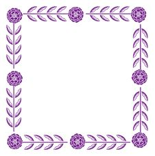 Free Purple Flower Pattern Royalty Free Stock Photos - 14257298
