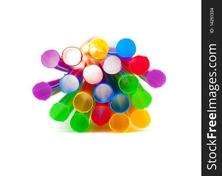 Multi-coloured drinking straws