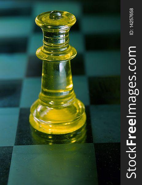 Queen a glass chess piece