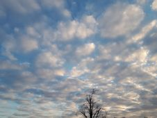 Free Cloudy Sky At Beginning Of Spring Royalty Free Stock Images - 142535849