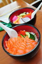 Free Japanese Salmon Don And Mixed Sashimi Don Stock Image - 14262231