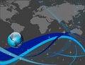 Free Blue Globe Background Stock Photography - 14269402