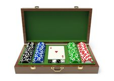 Free Box For A Gambling Chips Royalty Free Stock Images - 14260699