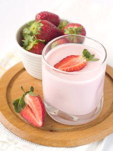 Strawberry Yoghurt Royalty Free Stock Image