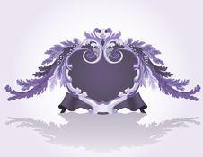 Violet Vintage Frame With Vine Royalty Free Stock Images