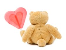 Free Bear With Heart Stock Photography - 14261412