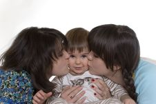 Free Kissing Baby Stock Photography - 14261432