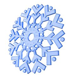 Free 3D Snowflake Stock Images - 14261874