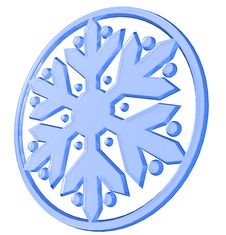 Free 3D Snowflake Royalty Free Stock Image - 14261966