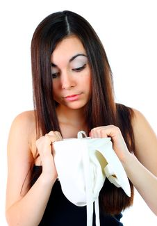 Free Girl Looks In The Bag Stock Image - 14261991