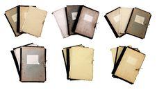 Set Of Old Folders Royalty Free Stock Image