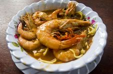 Noodles Prawn Soup Royalty Free Stock Photo